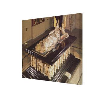Graven av Philip det djärvt, hertig av Burgundy Canvastryck