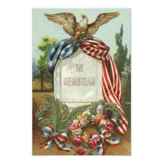 Gravestonen för gravstenen för kranen för US-flagg
