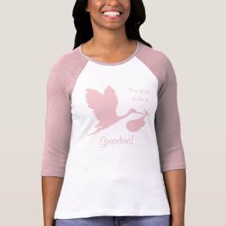 Gravid Annoucement för mormor T-shirts
