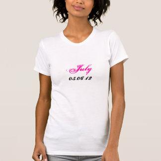 Gravida Juli daterar T-tröja T Shirts