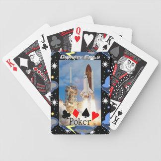 Gravitationkuggningar som leker kort! spelkort