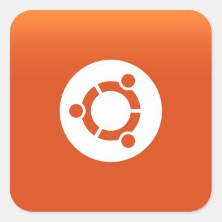 Grdiant Ubuntu orange Fyrkantigt Klistermärke