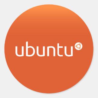 Grdiant Ubuntu orange Runt Klistermärke