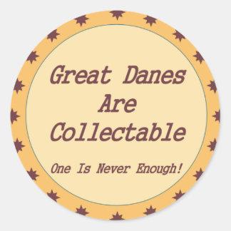 Great dane är collectible runt klistermärke