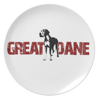 Great dane tallrik