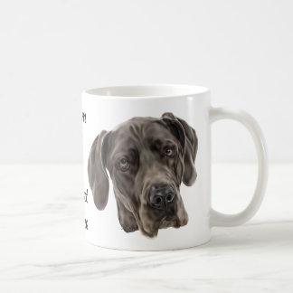 Great danehund vit mugg
