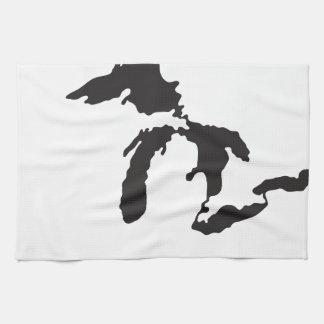 Great Lakes anpassningsbarillustration Kökshandduk