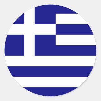 greece rund klistermärke