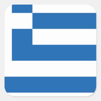 greece design fyrkantigt klistermärke