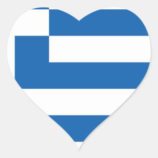 greece design hjärtformat klistermärke