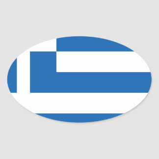 greece design ovalt klistermärke