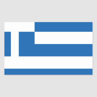 greece design rektangulärt klistermärke