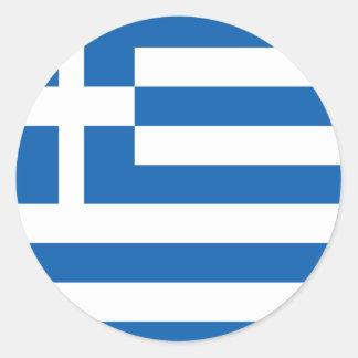 greece design runt klistermärke