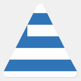 greece design triangelformat klistermärke