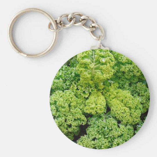 Green cabbage rund nyckelring