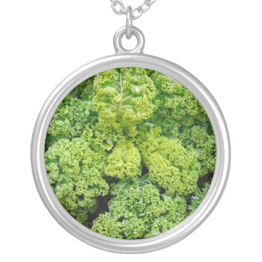 Green cabbage silverpläterat halsband