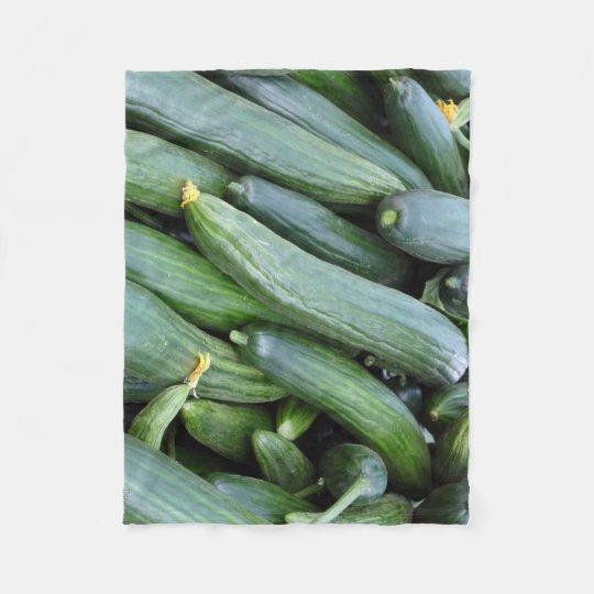 Green cucumbers fleecefilt