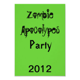 *Green* för ZombieApocolypes inbjudan