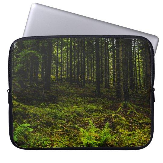 Green forest laptop fodral