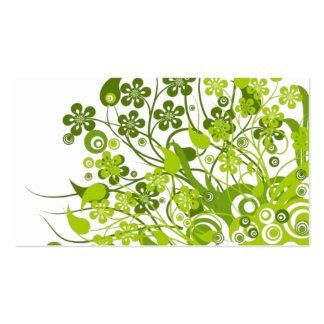 green-vector-flowers jpg visitkort