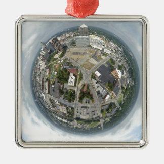 Greensboro mycket litet planet julgransprydnad metall