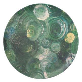 Greenswirls på en plätera tallrik