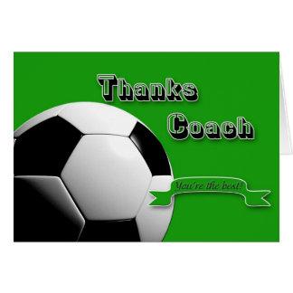 GreenThanks fotbolllagledare Hälsningskort