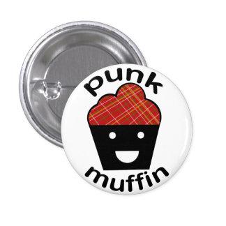 Greg den Punk muffinen Mini Knapp Rund 3.2 Cm