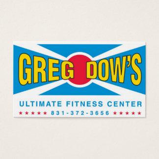 Greg Dows centrerar den ultimat konditionen Visitkort