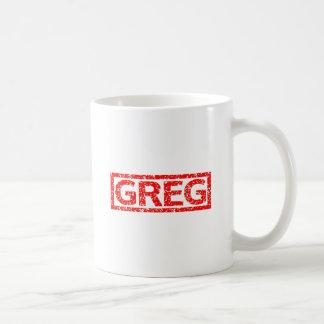 Greg frimärke vit mugg