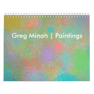 Greg Minah konstkalender Kalender