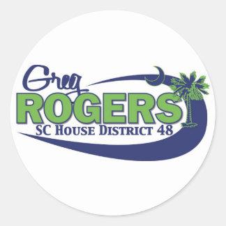 Greg Rogers för hus Runt Klistermärke