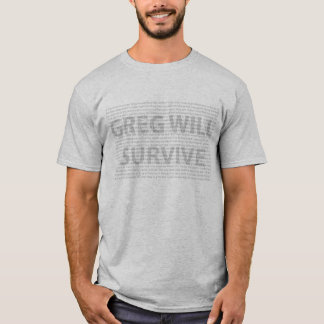 Greg ska överlever tee shirts