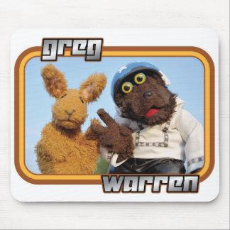 """Greg & Warren - """"den sjabbiga ryttaren"""" - ljus drä Mus Matta"""