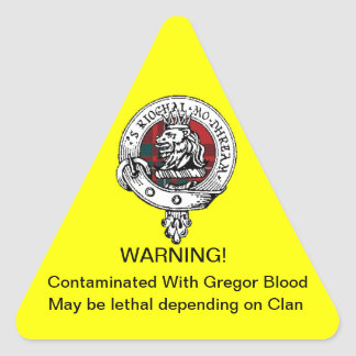 Gregor föroreningsklistermärke triangelformat klistermärke