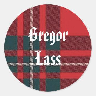 Gregor jänta runt klistermärke