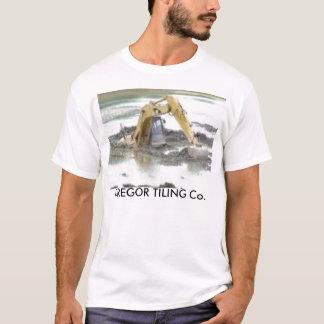 , GREGOR som BELÄGGER MED TEGEL Co. Tee Shirts