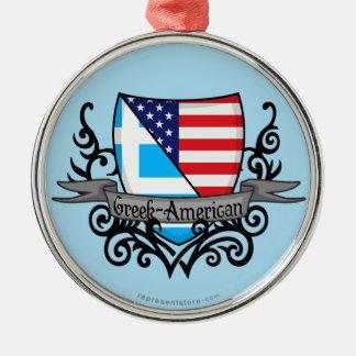 Grek-Amerikanen skyddar flagga Julgransprydnad Metall
