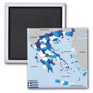 grek för flagga för karta för greece land politisk magnet