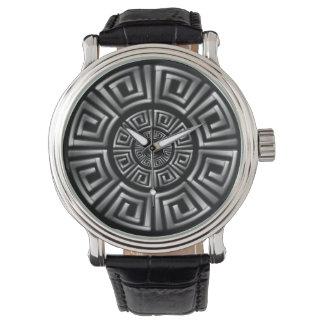 Greken cirklar motiv armbandsur