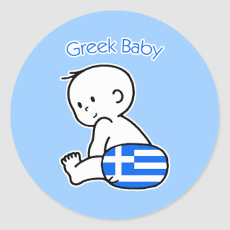 Grekisk baby runt klistermärke