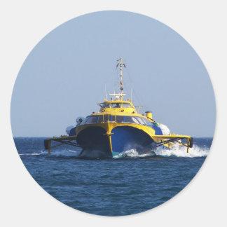 Grekisk bärplansbåt runt klistermärke