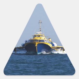 Grekisk bärplansbåt triangelformat klistermärke