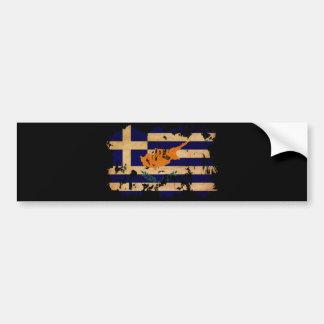 Grekisk Cypern flagga Bildekal