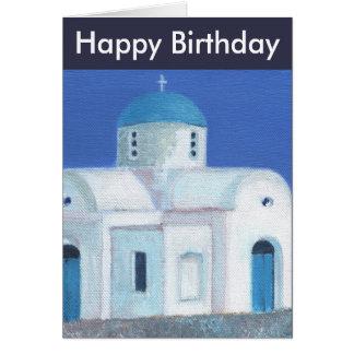 Grekisk cypriotisk kyrklig grattis på födelsedagen hälsningskort