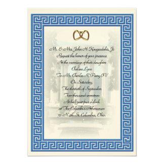 Grekisk elegant för nyckel för 14 x 19,5 cm inbjudningskort