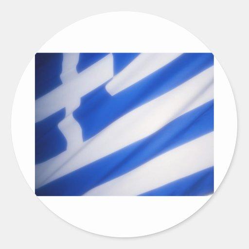 Grekisk flagga runda klistermärken