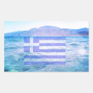 GREKISK FLAGGA REKTANGELFORMAT KLISTERMÄRKE