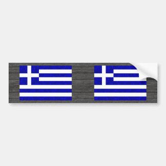 Grekisk flagga för modernt mönster bildekal
