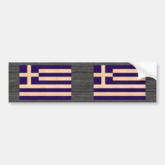 Grekisk flagga för vintagemönster bildekal